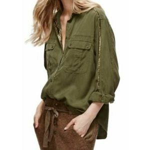 Free People Off Campus Button Down Shirt